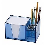 Organizador de mesa com papel branco ou colorido