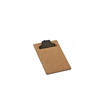 Clipboard MDF Memo Size - Plastic Clip