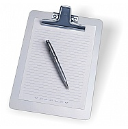 Aluminum clipboard memo size