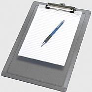 Clipboard plastic - Universal size - Wire Clip