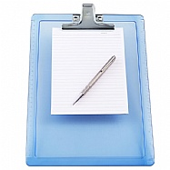 Letter Size Plastic Clipboard, with 2 side rulers – Metal Clip