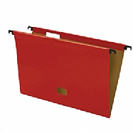 Colored plastified hanging file - Red