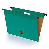 Colored plastified hanging file - Green