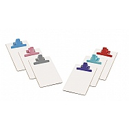 White MDF Half Letter Size  Clipboard – Colored Metal Clip