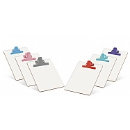 White MDF Letter Size  Clipboard – Colored Metal Clip