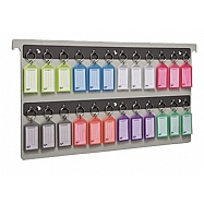 Key File Drawer Rack - Legal Size - 24 Keyring Tags